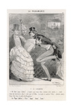 Polka Disapproved 1844 Giclee Print by Charles Vernier