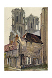 France, Laon Cathedral Giclee Print by Ernst Vollbehr