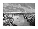 Portugal, Oporto Bridge Giclee Print by DL Fernandez