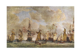 George III Reviews Fleet Giclee Print by Dominic Serres