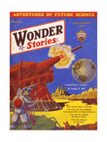 Wonder Stories, Guns Giclee Print by Frank R Paul