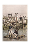French Soldiers-Bridge Giclee Print by Edouard Detaille