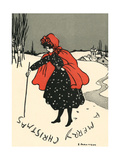 Writing in Snow Giclee Print by Ethel Parkinson