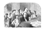A Singing Lesson at Minerva House, 1863 Giclee Print by Florence Claxton