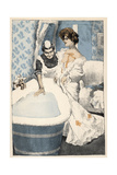 Bathing, Maid Runs Bath Giclee Print by Ferdinand Von Reznicek