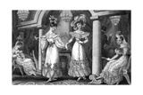 Four Fashionable Ladies at a Soiree Giclee Print by E Burney