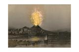 Vesuvius, Eugene Ciceri Giclee Print by Eugene Ciceri
