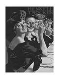 Henkell Trocken Drinking Giclee Print by Ernst Heilemann