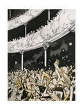 Late Comers at the Christmas Shows Giclee Print by Charles Robinson