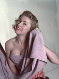 Pin-Up with Lilac Towel Photographic Print by Charles Woof