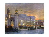 Buckingham Palace, Night Giclee Print by Donald Maxwell