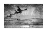 WW1 - British Seaplanes in Action, Cuxhaven, Germany, 1915 Giclee Print by Donald Maxwell