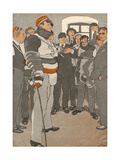 German Student Duel 1933 Premium Giclee Print by Eduard Thony