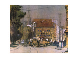 India, Bombay Street 1931 Giclee Print by Donald Maxwell