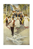 Fete, Alsace Giclee Print by Charles Spindler