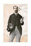 Anatole Francais Thibault aka Anatole France Giclee Print by De La Barre