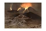 Etna Erupts 1885 Giclee Print by Eugene Ciceri