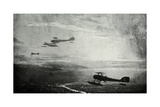 WW1 - British Seaplane Squadron on Patrol Giclee Print by Donald Maxwell