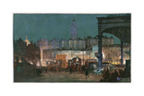 Victoria Station, Night Giclee Print by Donald Maxwell