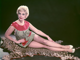 Blonde on Leopard Rug Photographic Print by Charles Woof