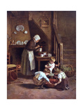 Making Jam C19 Giclee Print by Edouard Frere