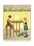 Girls Eat Soup 1917 Giclee Print by E Branly
