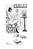 Reading a Book, Armchair Giclee Print by Else Courlander