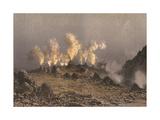 Vesuvius, Cones Giclee Print by Eugene Ciceri