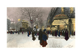 Paris, Grands Boulevards Giclee Print by F Giusto