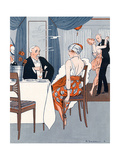 Social, Paris Restaurant Giclee Print by Edouard Touraine