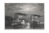 Natchez and Eclipse Giclee Print by Ed Willmann