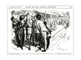 WW1 - Cartoon - the Hero of the Day Premium Giclee Print by F.h. Townsend