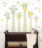 Nursery Giraffe Wall Art Kit - Duvar Çıkartması