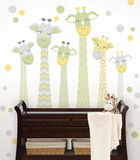 Nursery Giraffe Wall Art Kit Decalques de parede