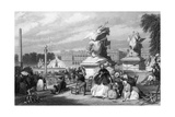 Paris Place Concorde Giclee Print by Eugene Lami