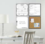 White Organization Set Vinilo decorativo