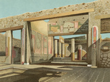 Banker's House, Pompeii Photographic Print by E Presuhn