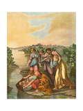 Moses Found in the Nile Premium Giclee Print by Eugene Ronjat