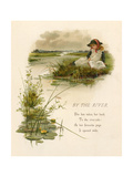 Girls Reading by River Premium Giclee Print by Edith S. Berkeley