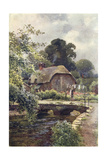Wessex, Hangmans Cottage Giclee Print by Ernest Haslehust