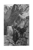 Crossing the Kotal Mountains, Iran Giclee Print by Edwin Lord Weeks