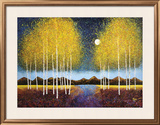 Full Moon Panorama Art by Melissa Graves-Brown