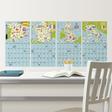 Bon Voyage Dry Erase Calendar Set Autocollant