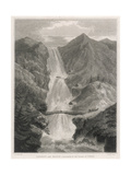 Waterfall at Kringlendal, Norway Giclee Print by ED Clarke