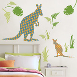 Joey the Kangaroo Wall Art Kit Kalkomania ścienna
