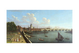 A View of Blackfriars, Attributed to Francis Smith Giclee Print by Francis Smith