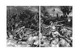 Germans Routed by Highlanders in Offensive Near Ypres, 1917 Giclee Print by Frank Dadd