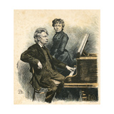 Grieg and His Wife Giclee Print by Erik Henningsen