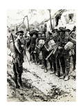 WW1 - Off to the Trenches Giclee Print by Ernest Prater