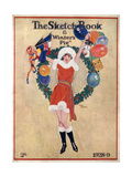 A Young Flapper Girl in a Christmas Theme Dress Giclee Print by Elisie Harding